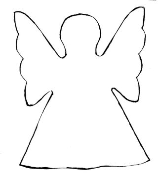 Angel pattern cut out free knitting patterns for Angel tree decoration template