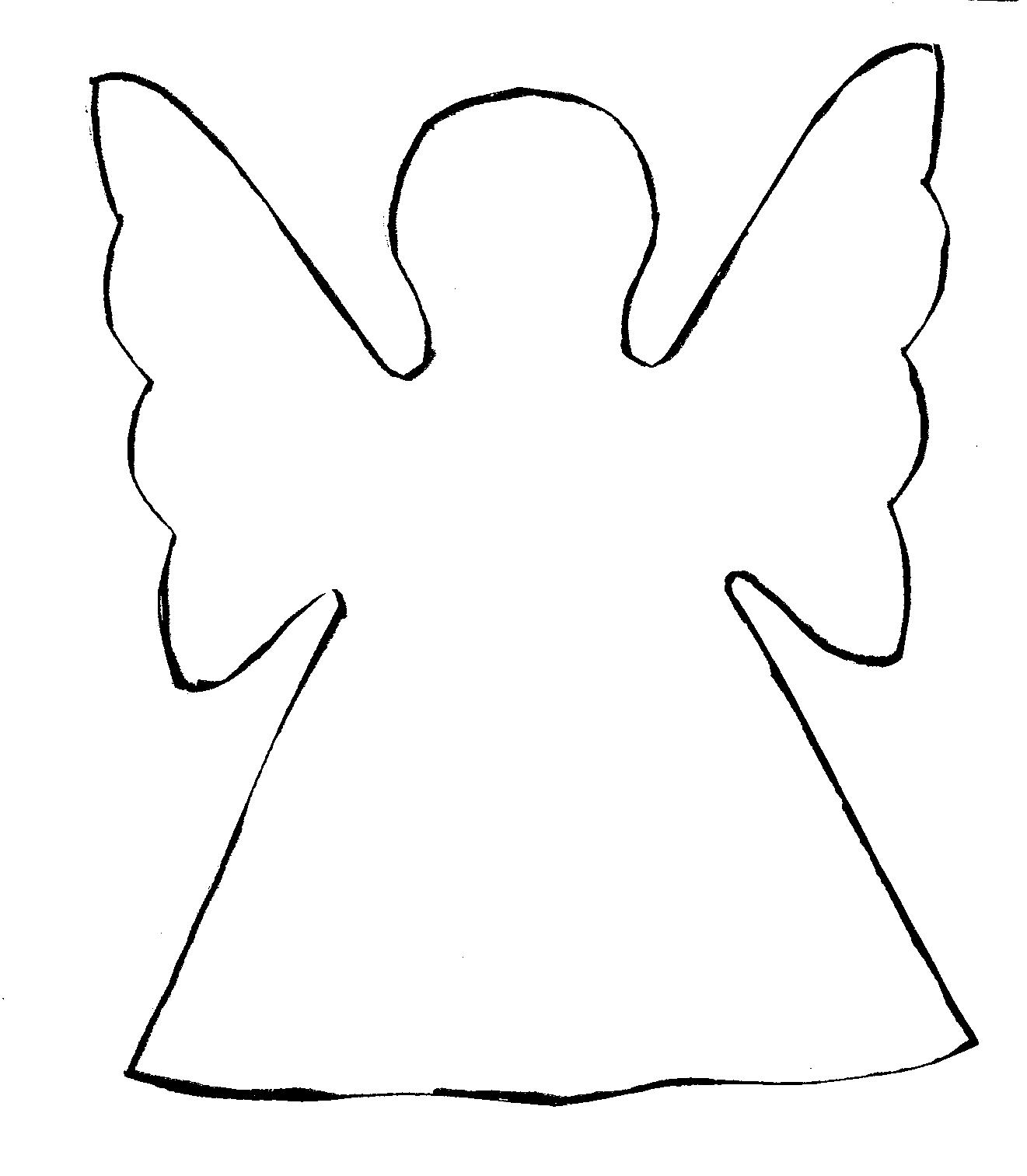 Rasberry Angel Shape Template Rasberry