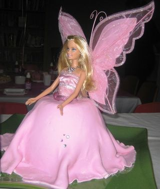 Barbie fairy doll cake